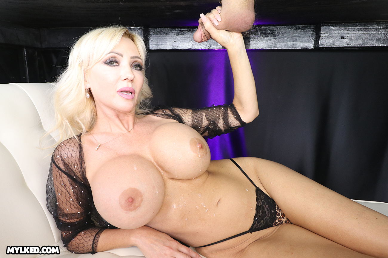 Busty Victoria Lobov Doused with Warm White Cum